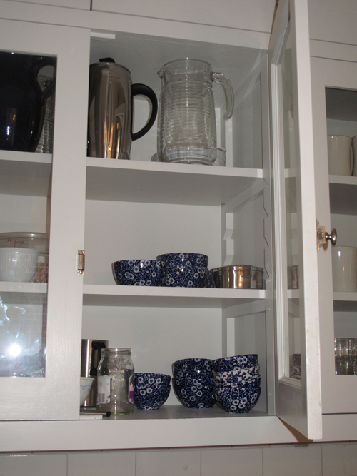 Colonial Revival Kitchen Shelves